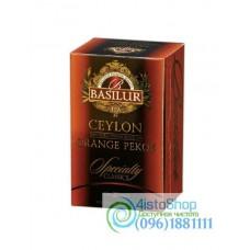 Чай черный Basilur Цейлонский Orange Pekoe (картон) 20пак*2г