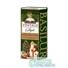 Чай зеленый Basilur Коллекция Винтаж  Рождественская елка ж/б 100г